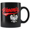 Phoenix Polish Black 11oz Mug - My Polish Heritage