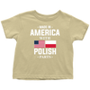 Made in America with Polish Parts Toddler Shirt - My Polish Heritage