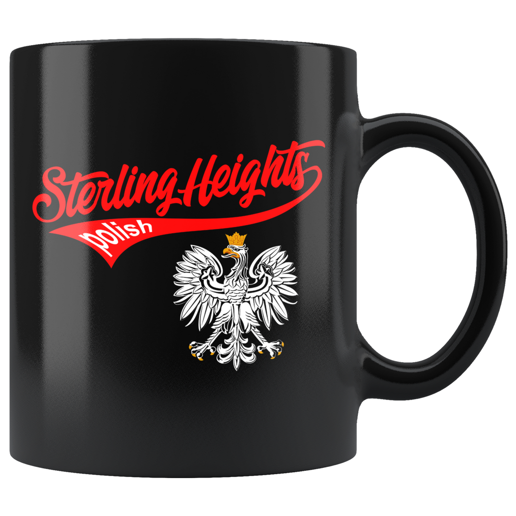 Sterling Heights Polish Black 11oz Mug