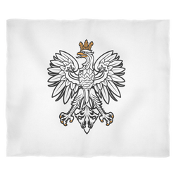 Polish Eagle Fleece Blanket
