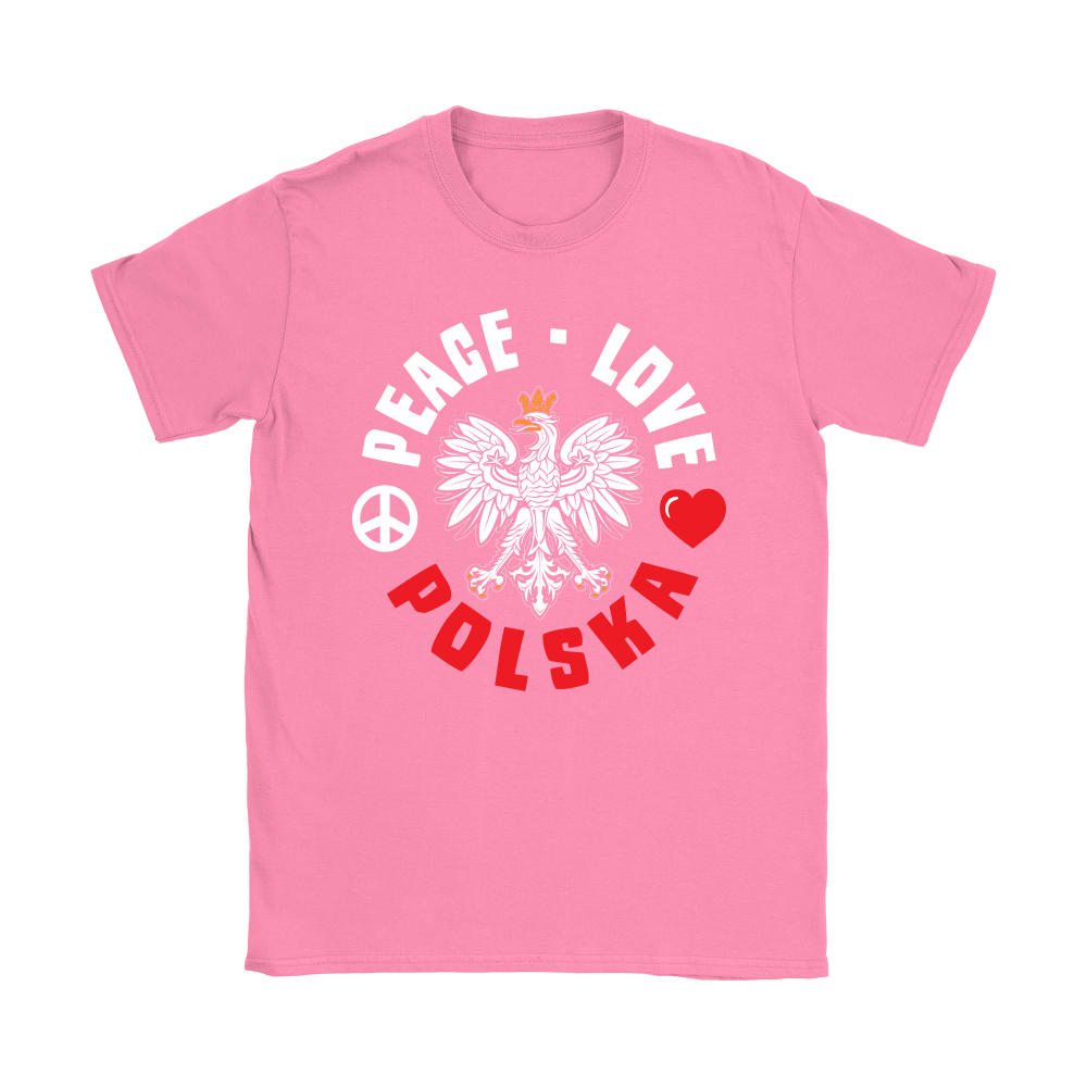 Peace Love Polska Shirt - My Polish Heritage