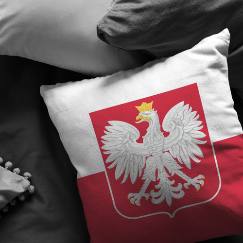 Polish Flag Pillow - My Polish Heritage