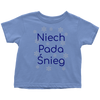 Niech pada Śnieg Let it Snow in Polish baby and toddler shirts and bodysuits