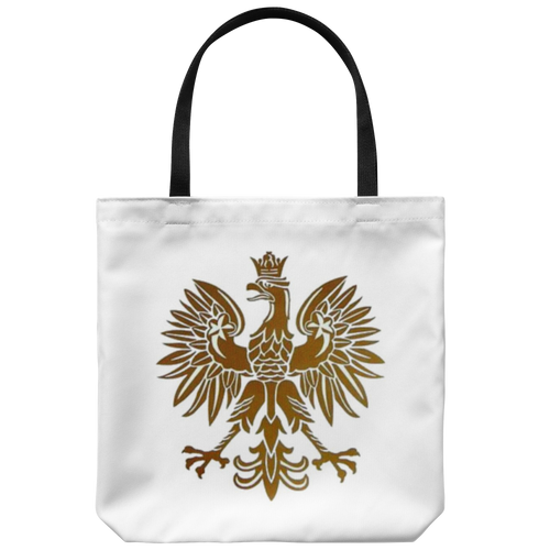Gold Polish Eagle Tote Bag