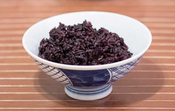 black rice in japanese bowl