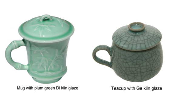 Ge kiln and Di kiln celadon glazes