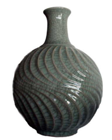dark-celadon-wave-vase