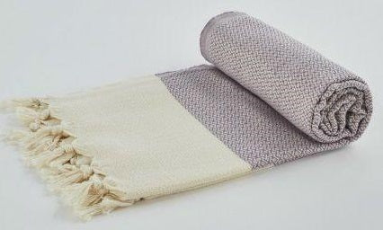 Turkish Peshtemel Towels - Izmir Diamonds (Lilac)