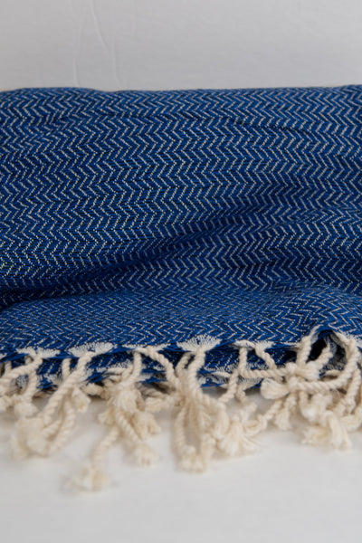 Turkish Peshtemel Towels - Bodrum Zirve | Marine Blue