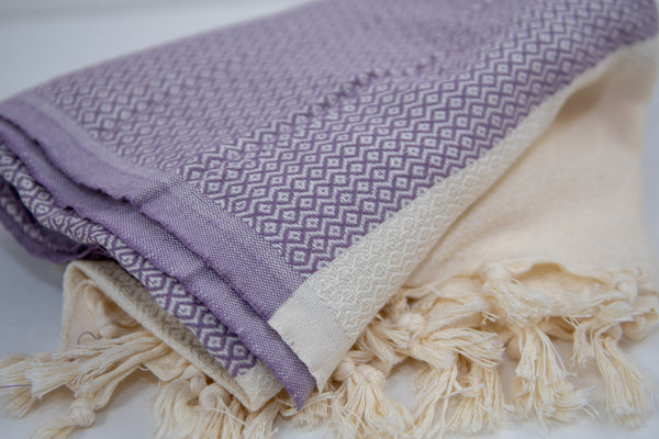 Turkish Peshtemel Towels - Izmir Diamonds | Lilac