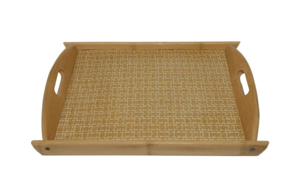 Bamboo Wicker Tray | JadeSouk