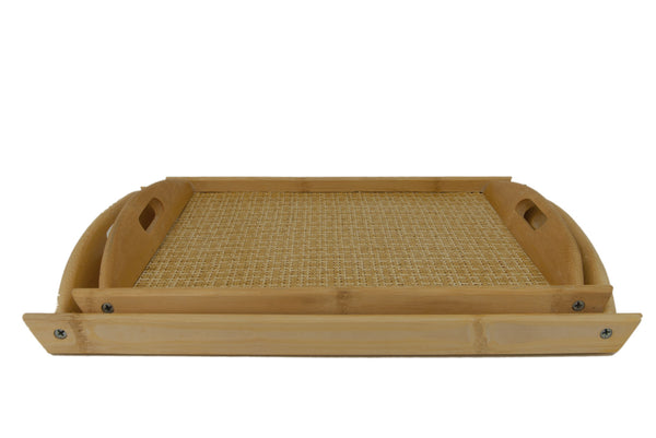 Bamboo Wicker Tray - 2 Sizes | JadeSouk