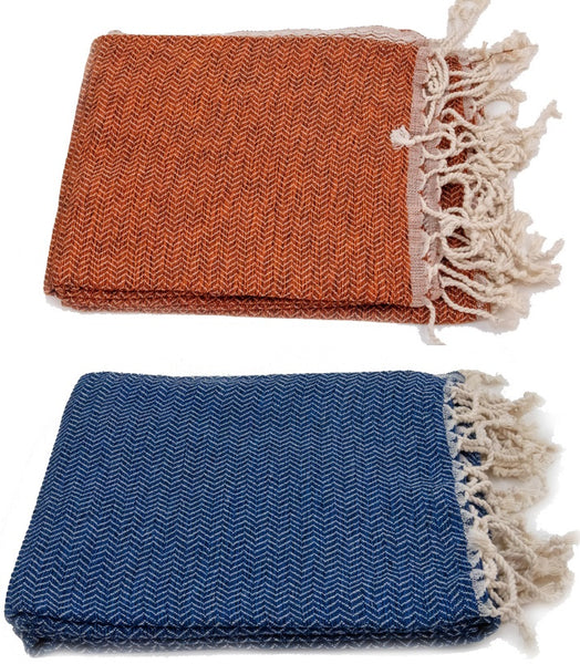 Turkish Peshtemel Towels - Bodrum Zirve (Vermillion)
