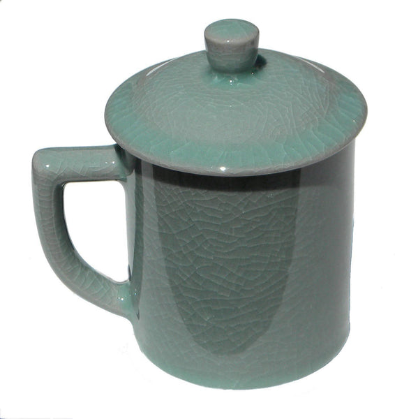Dark Celadon Coffee Mug | JadeSouk