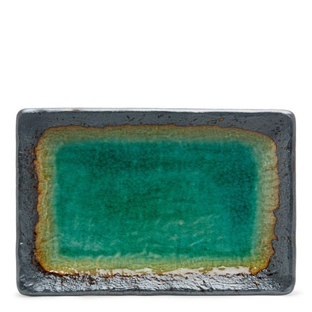 Travertine Green - Sushi Plate & Condiment Dish