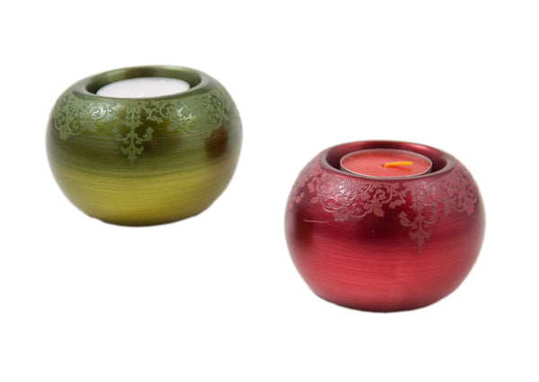 Round Ceramic Tealight Candle Holder | JadeSouk