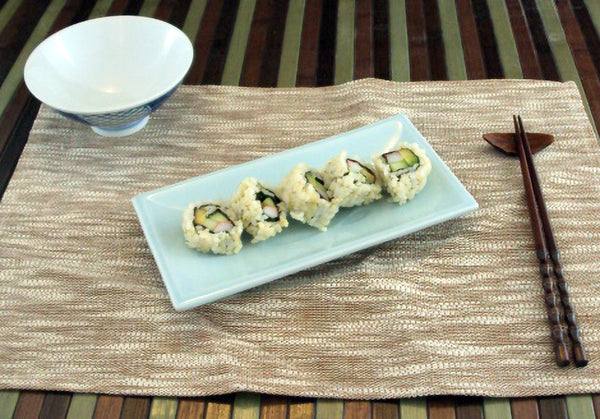Celadon Sushi Plate (8½ x 4¼ in.)