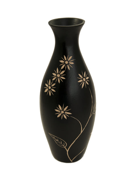 Thani Tall Vase - Black | JadeSouk
