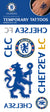 Official Chelsea FC Single Sheet Temporary Tattoo