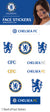 Official Chelsea FC Face Sticker