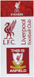 Official Liverpool FC Single Sticker Sheet