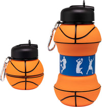 Collapsible Silicone Basketball Water Bottle