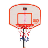 Pro Ball Portable Electronic Scoreboard Basketball Hoop for Kids, Adjustable Height Design up to 65""