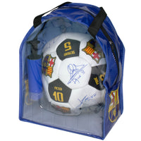FC Barcelona Signatures Soccer Ball Kit Size 5 with Pump