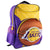 "Official LA Lakers Purple and Gold Kids' Backpack, 16"" Wide – 3D Basketball Accent"