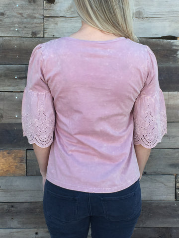 Pink Belle Sleeve Blouse - Everyday Eden