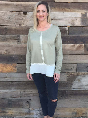 Blocked Bottom Blouse - Everyday Eden