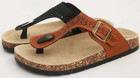 Brown Bamboo Sandals - Everyday Eden