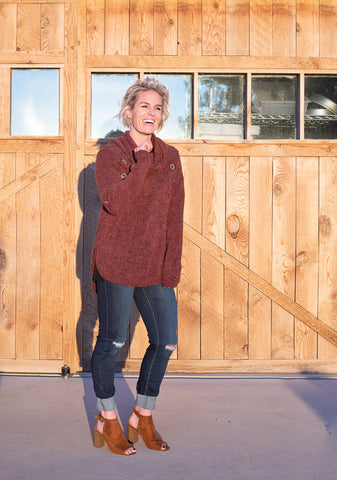 Chokecherry Turtleneck Sweater - Everyday Eden
