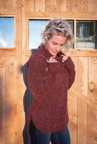 Chokecherry Turtleneck Sweater
