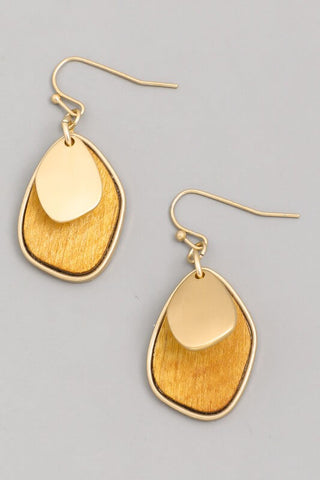 Layered Drop Earrings (Multiple Colors) - Everyday Eden