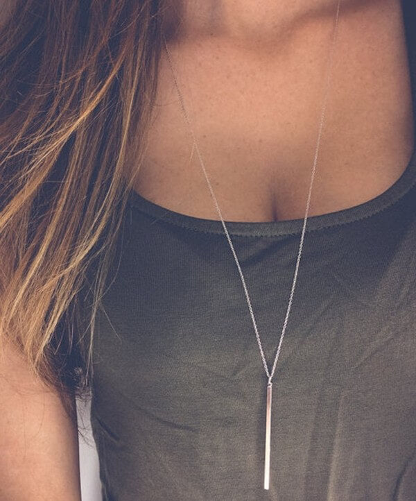 Bar Necklace (Two colors) - Everyday Eden