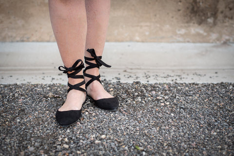 Lace Up Ballet Flat - Everyday Eden