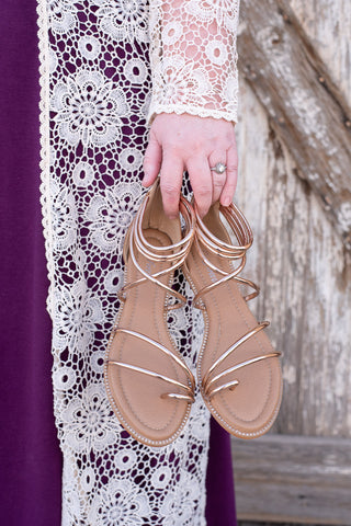 Gold Strap Sandal - Everyday Eden