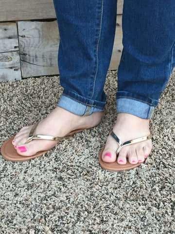 Flat Flip Flops (Two Colors) - Everyday Eden