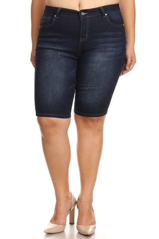 Gossip Denim Plus Size Shorts - Everyday Eden