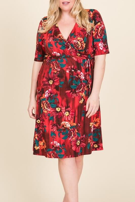 Red Hot Plus Size Dress - Everyday Eden
