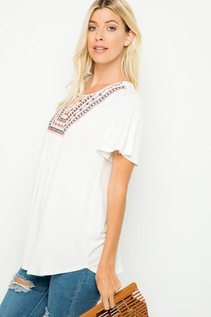 Primrose Embroidered Plus Size Blouse - Everyday Eden
