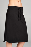 Terry Skirt Solid Black - Everyday Eden