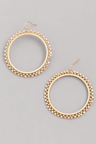 Dorothy Wheel Earrings (Two Colors) - Everyday Eden