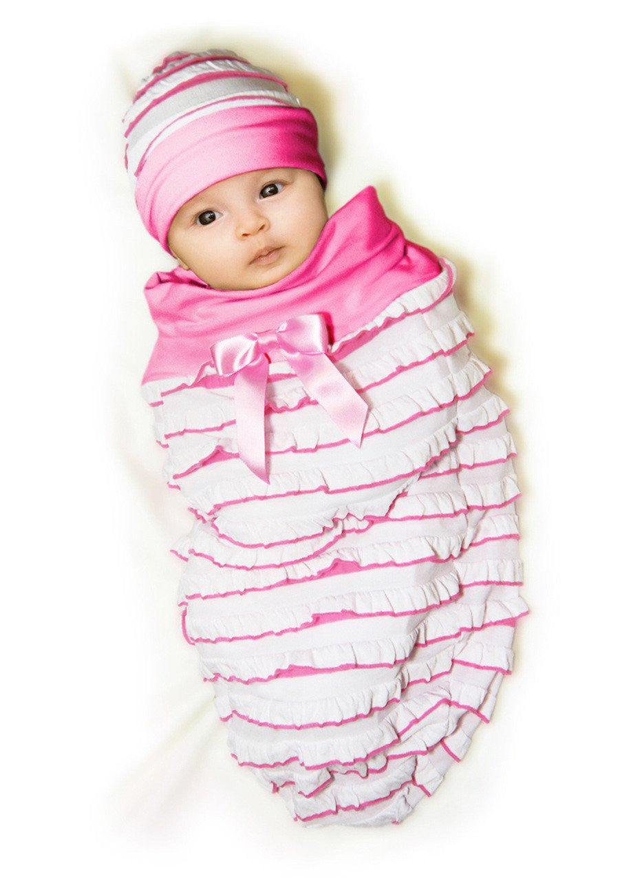 Candy Pink Ruffle-Cozy Cocoon
