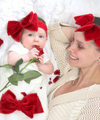 Velour Bow Headband Set-Cozy Cocoon