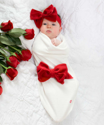 Velour Bow Headband Set