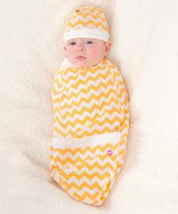 Yellow Chevron Cocoon-Cozy Cocoon