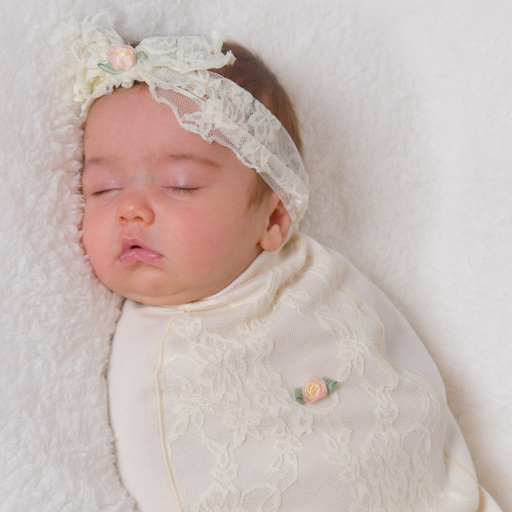 Baby Blossoms & Lace-Cozy Cocoon