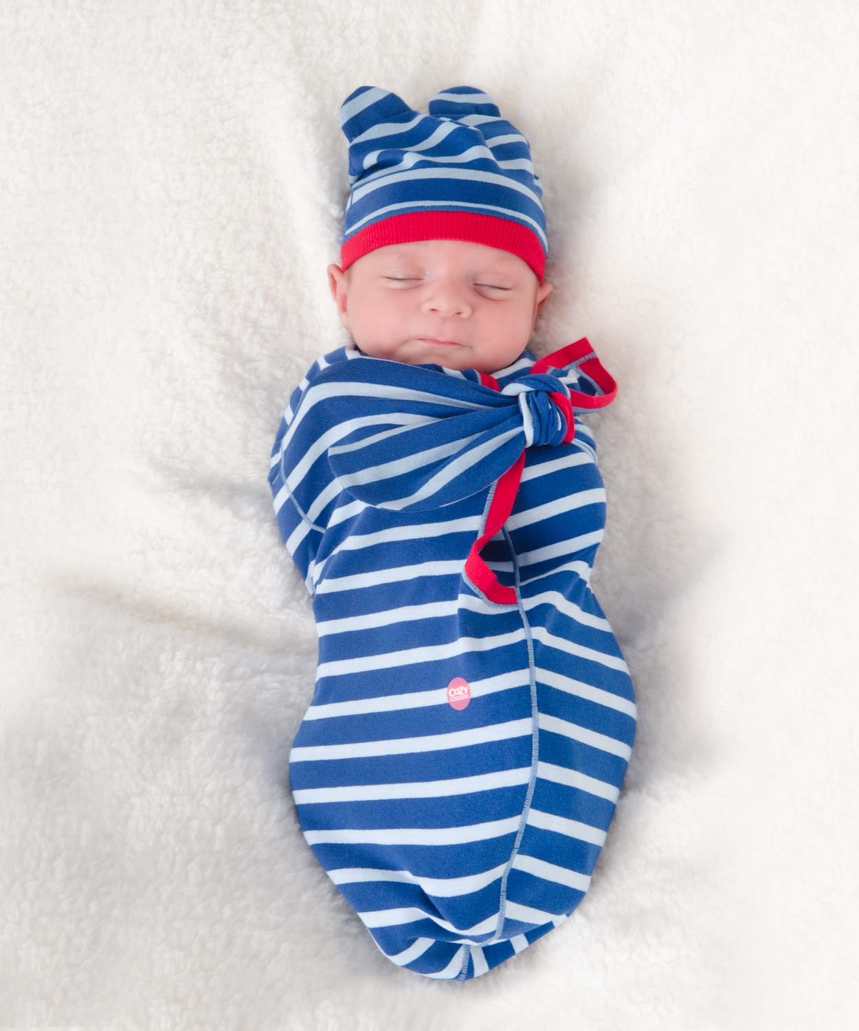 Cozy Wrap Blue Stripe-Cozy Cocoon